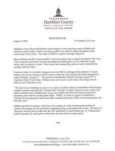 Hamblen County Mask Mandate
